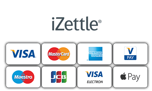 iZettle accepted payment cards